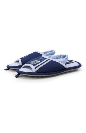 Детского текстильная домашняя обувь DE FONSECA синего цвета, арт. BARI K501RU | Фото 1 (Материал внешний: Текстиль; Статус проверки: Проверено; Кросс-КТ: тапочки)
