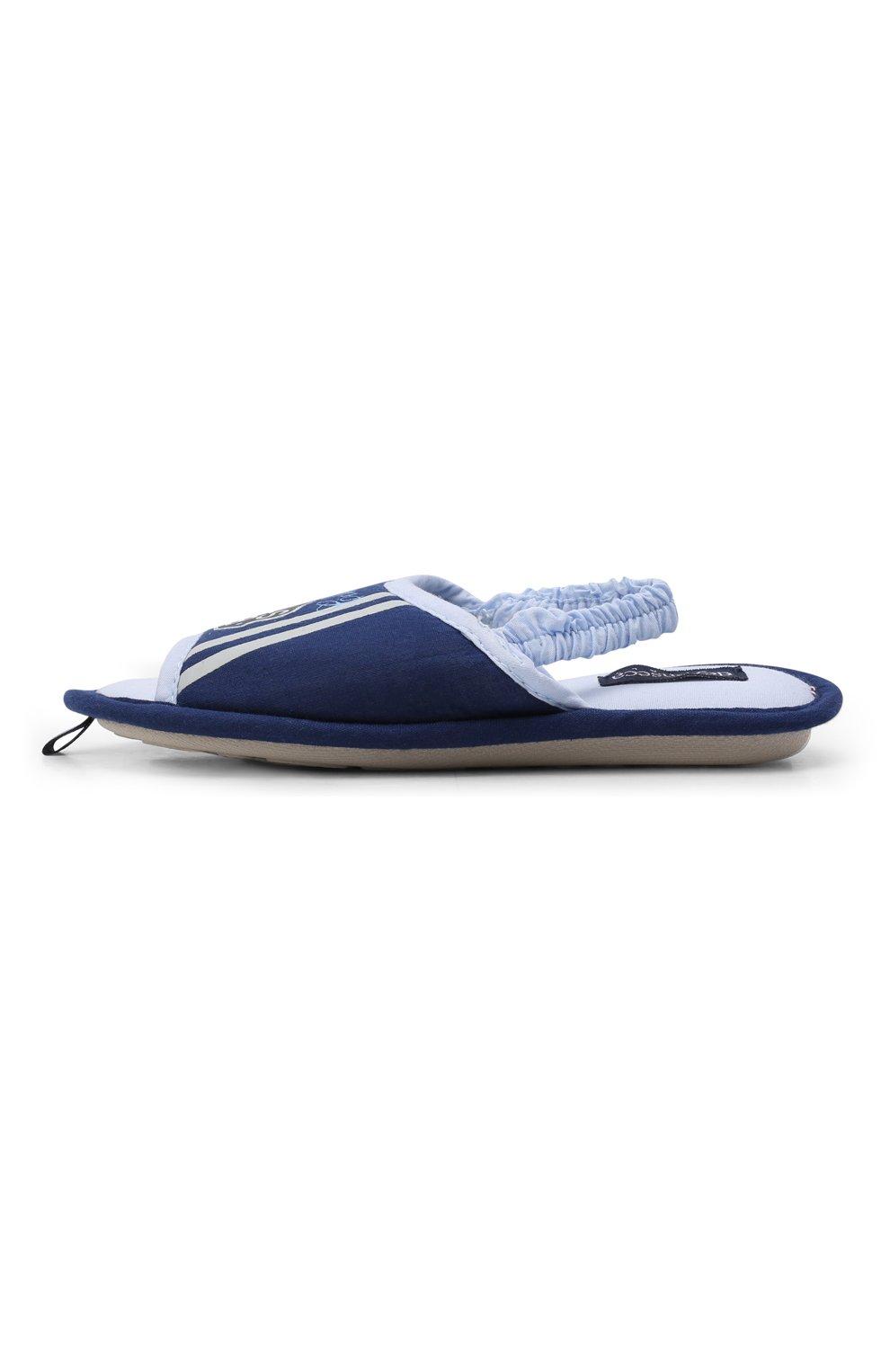 Детского текстильная домашняя обувь DE FONSECA синего цвета, арт. BARI K501RU   Фото 2 (Кросс-КТ: тапочки; Статус проверки: Проверено, Проверена категория)