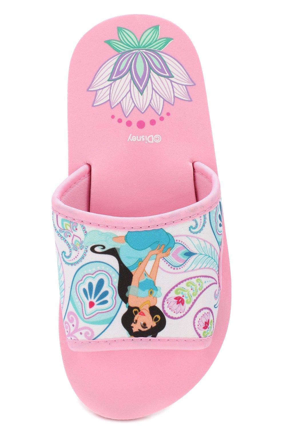 Детский шлепанцы DE FONSECA розового цвета, арт. AMALFI G570RU   Фото 4 (Материал внешний: Текстиль; Статус проверки: Проверено, Проверена категория)