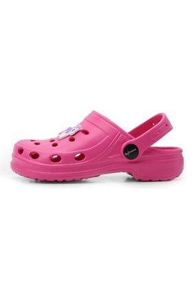 Детского домашняя обувь DE FONSECA фуксия цвета, арт. ANCONA G503RU | Фото 2 (Материал внешний: Экокожа; Кросс-КТ: тапочки; Статус проверки: Проверено, Проверена категория)