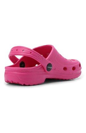 Детского домашняя обувь DE FONSECA фуксия цвета, арт. ANCONA G503RU | Фото 3 (Материал внешний: Экокожа; Кросс-КТ: тапочки; Статус проверки: Проверено, Проверена категория)