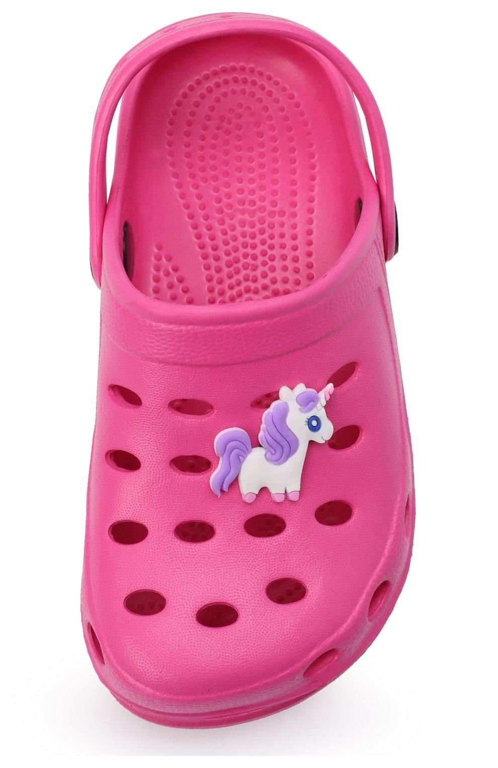 Детского домашняя обувь DE FONSECA фуксия цвета, арт. ANCONA G503RU | Фото 4 (Материал внешний: Экокожа; Кросс-КТ: тапочки; Статус проверки: Проверено, Проверена категория)