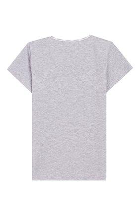 Детская хлопковая футболка LA PERLA серого цвета, арт. 51325/8A-14A | Фото 2