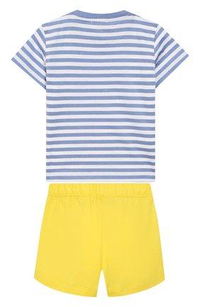 Детский комплект из футболки и шорт IL GUFO желтого цвета, арт. P19DP289M1067/3M-9M | Фото 2