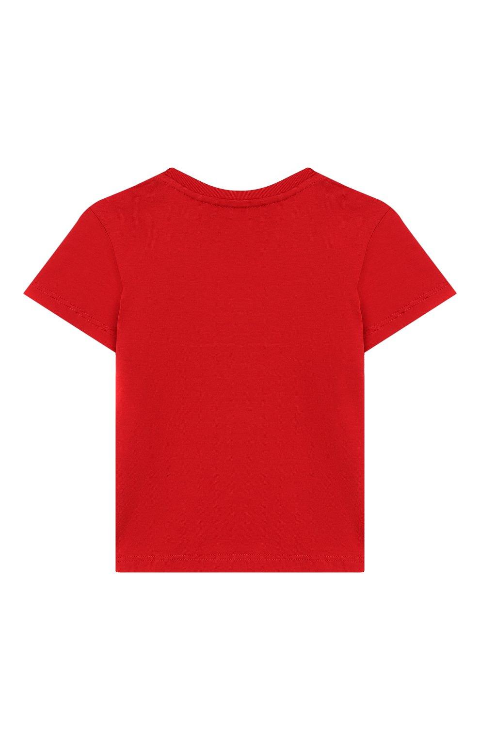 Детский хлопковая футболка GUCCI красного цвета, арт. 497845/X3L91 | Фото 2