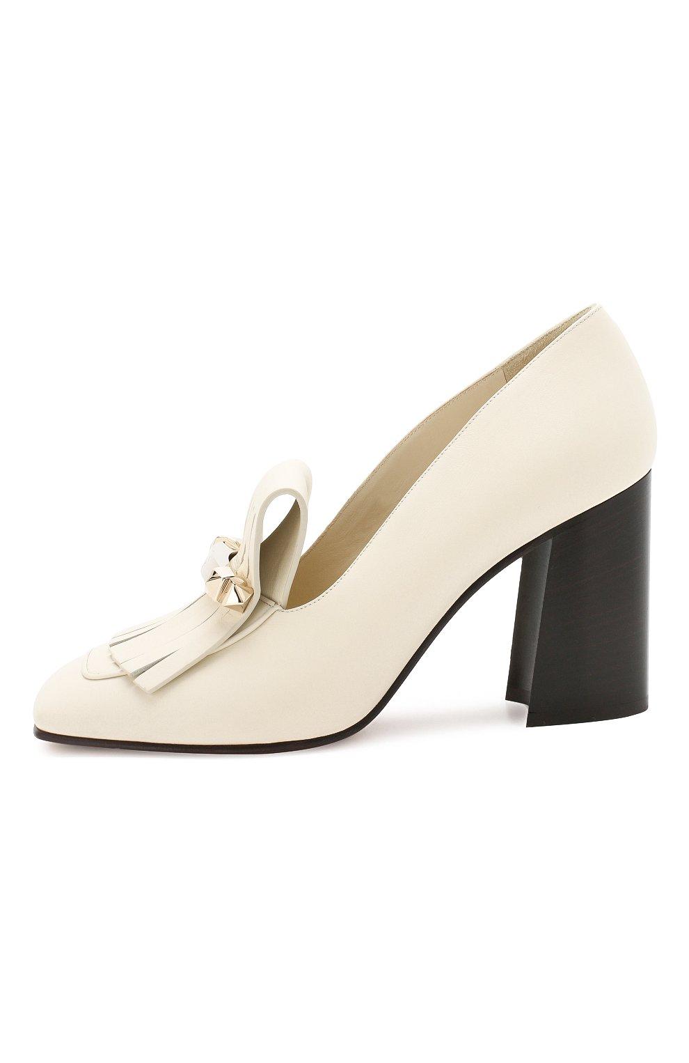 Кожаные туфли Valentino Garavani Uptown Valentino белые   Фото №3