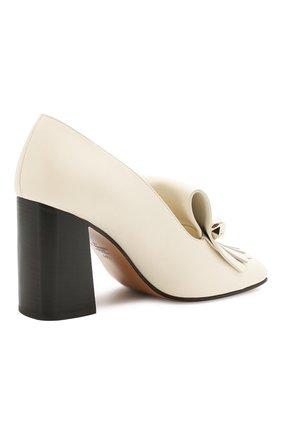 Кожаные туфли Valentino Garavani Uptown Valentino белые   Фото №4
