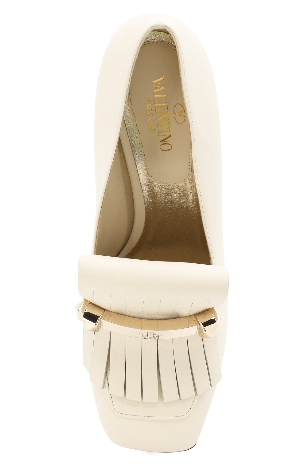 Кожаные туфли Valentino Garavani Uptown Valentino белые   Фото №5