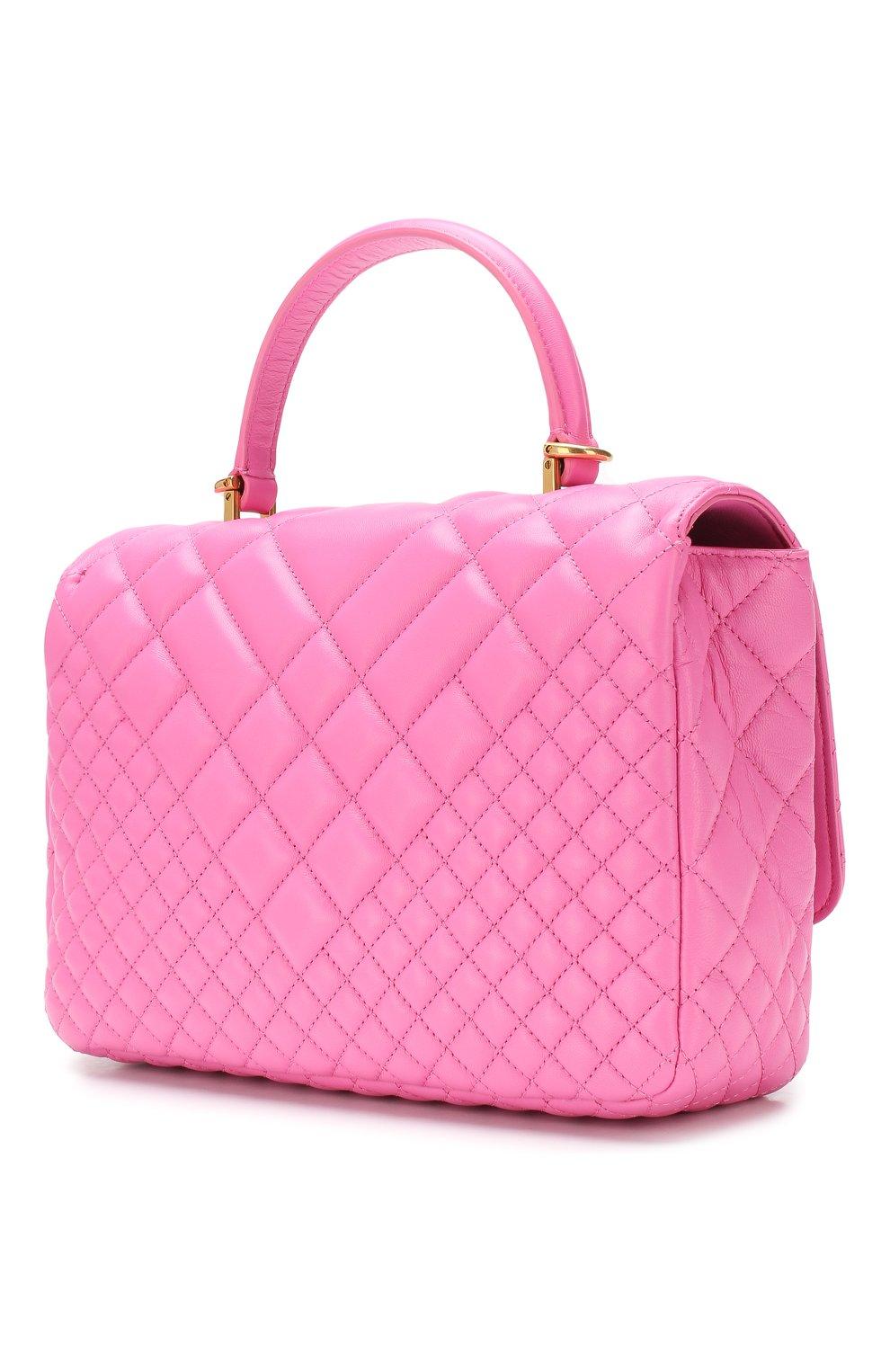 Сумка Icon Versace розовая цвета | Фото №3