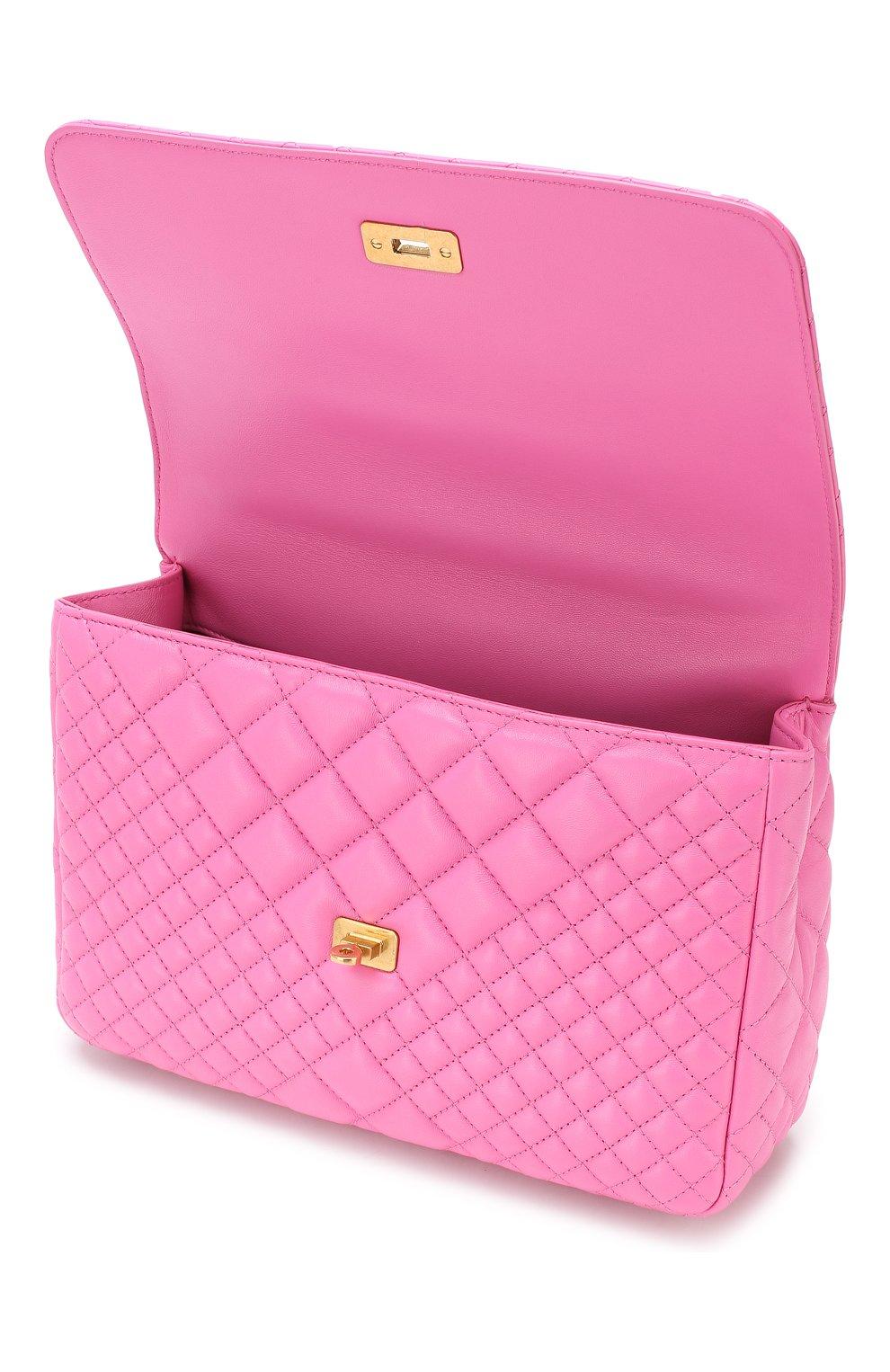 Сумка Icon Versace розовая цвета | Фото №4