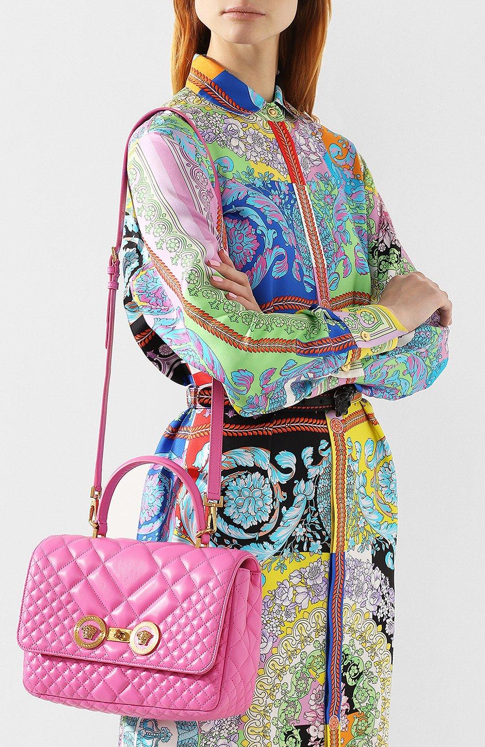 Сумка Icon Versace розовая цвета | Фото №5