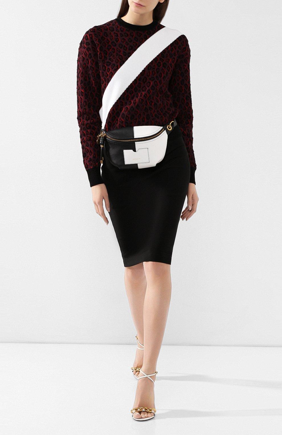 Поясная сумка Whip Givenchy черно-белая   Фото №2