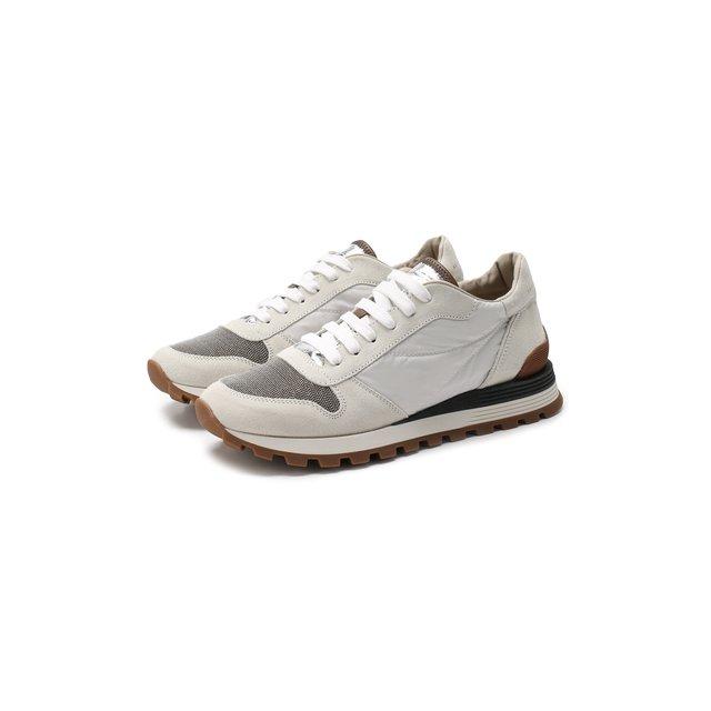 Комбинированные кроссовки Brunello Cucinelli — Комбинированные кроссовки