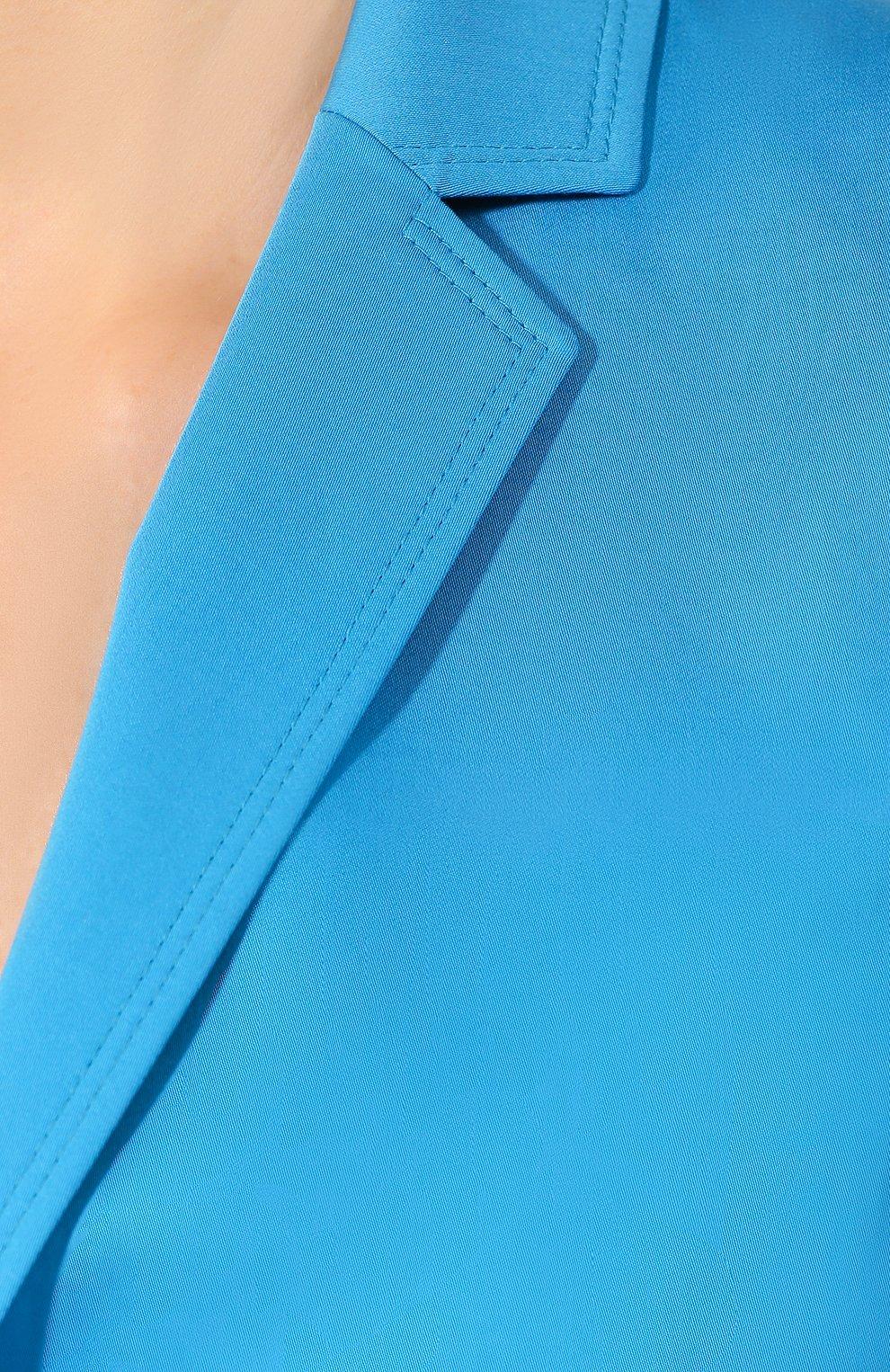 Хлопковый жакет Escada голубой   Фото №5