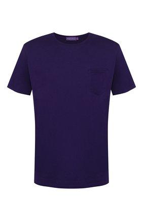 Мужская хлопковая футболка RALPH LAUREN фиолетового цвета, арт. 790687036   Фото 1