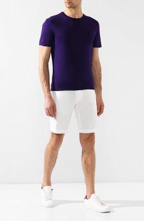Мужская хлопковая футболка RALPH LAUREN фиолетового цвета, арт. 790687036   Фото 2