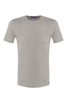 Мужская хлопковая футболка RALPH LAUREN серого цвета, арт. 790508153   Фото 1