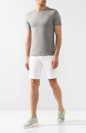Мужская хлопковая футболка RALPH LAUREN серого цвета, арт. 790508153   Фото 2