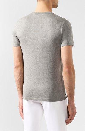 Мужская хлопковая футболка RALPH LAUREN серого цвета, арт. 790508153   Фото 4