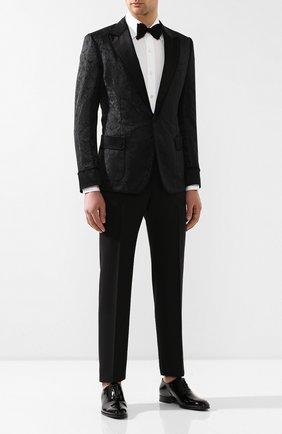 Мужской пиджак DOLCE & GABBANA черного цвета, арт. G2LX6T/FJM4E   Фото 2
