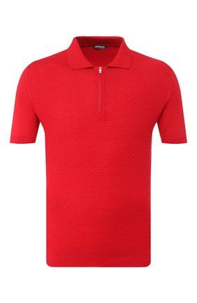 Мужское хлопковое поло KITON красного цвета, арт. UK1047 | Фото 1