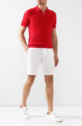 Мужское хлопковое поло KITON красного цвета, арт. UK1047 | Фото 2