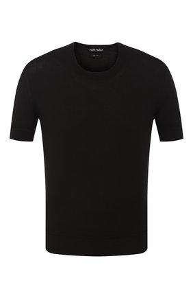 Мужская хлопковая футболка TOM FORD черного цвета, арт. BSC02/TFKC10 | Фото 1