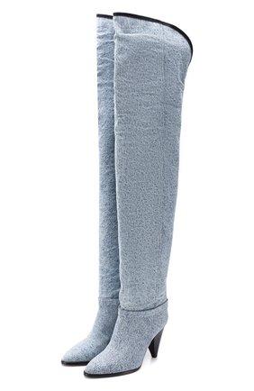 Текстильные ботфорты Learon | Фото №1