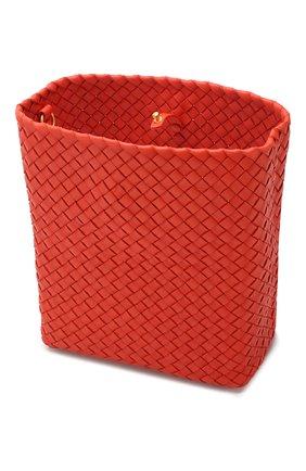 Сумка Cabat Bucket Bottega Veneta оранжевая цвета | Фото №4