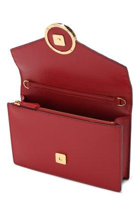 Кожаная сумка Fendi красная цвета | Фото №4