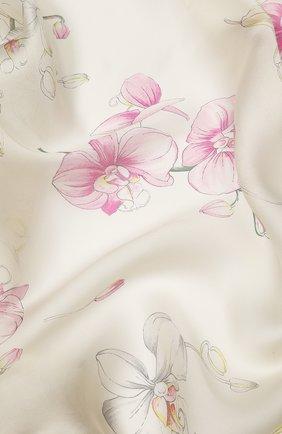 Шелковая шаль Valentino розового цвета | Фото №2