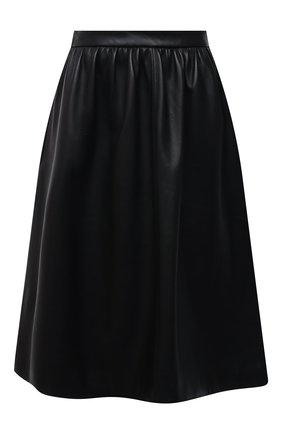 Женская кожаная юбка MASLOV черного цвета, арт. UT002   Фото 1