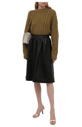 Женская кожаная юбка MASLOV черного цвета, арт. UT002   Фото 2
