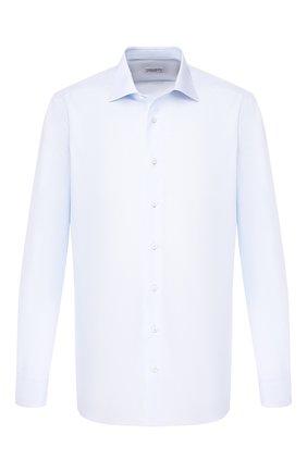 Мужская хлопковая сорочка с воротником кент ZILLI голубого цвета, арт. MFR-01703-MERCU/RZ01 | Фото 1