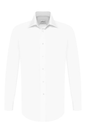 Мужская хлопковая сорочка BRIONI белого цвета, арт. RCLU2U/PZ033 | Фото 1