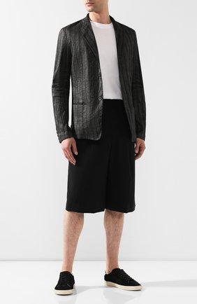 Пиджак из смеси льна и хлопка | Фото №2