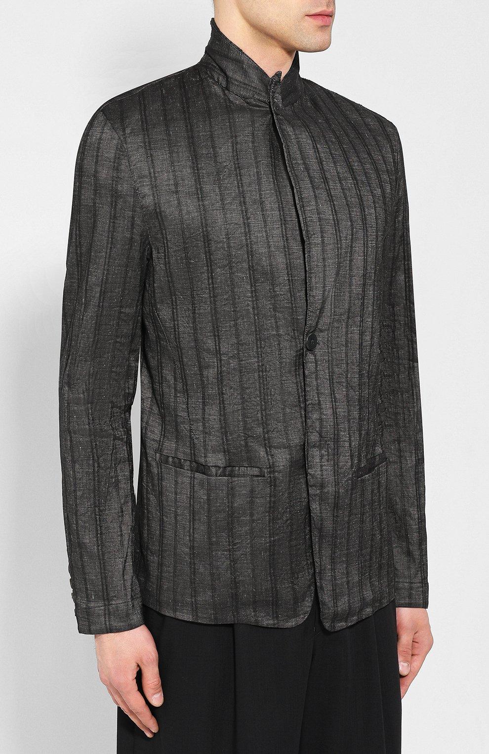 Пиджак из смеси льна и хлопка | Фото №3