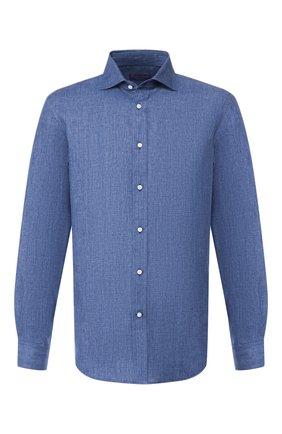 Мужская льняная рубашка RALPH LAUREN синего цвета, арт. 791750046 | Фото 1