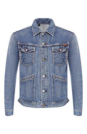 Мужская джинсовая куртка TOM FORD синего цвета, арт. BSJ11/TFD111 | Фото 1