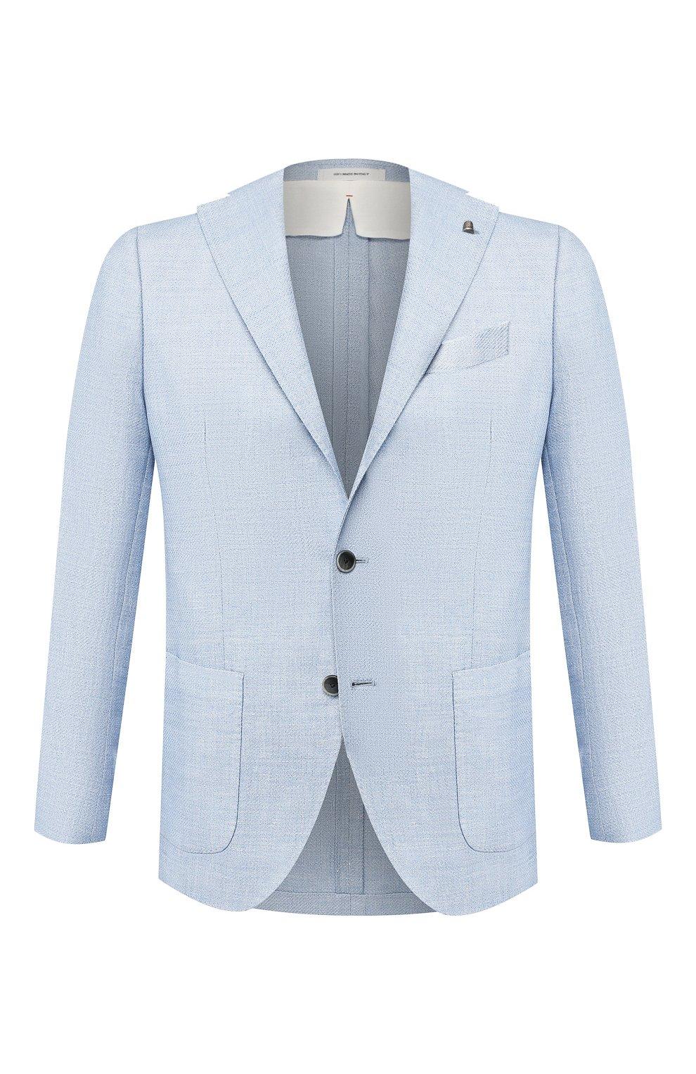 Пиджак из смеси шерсти и льна   Фото №1