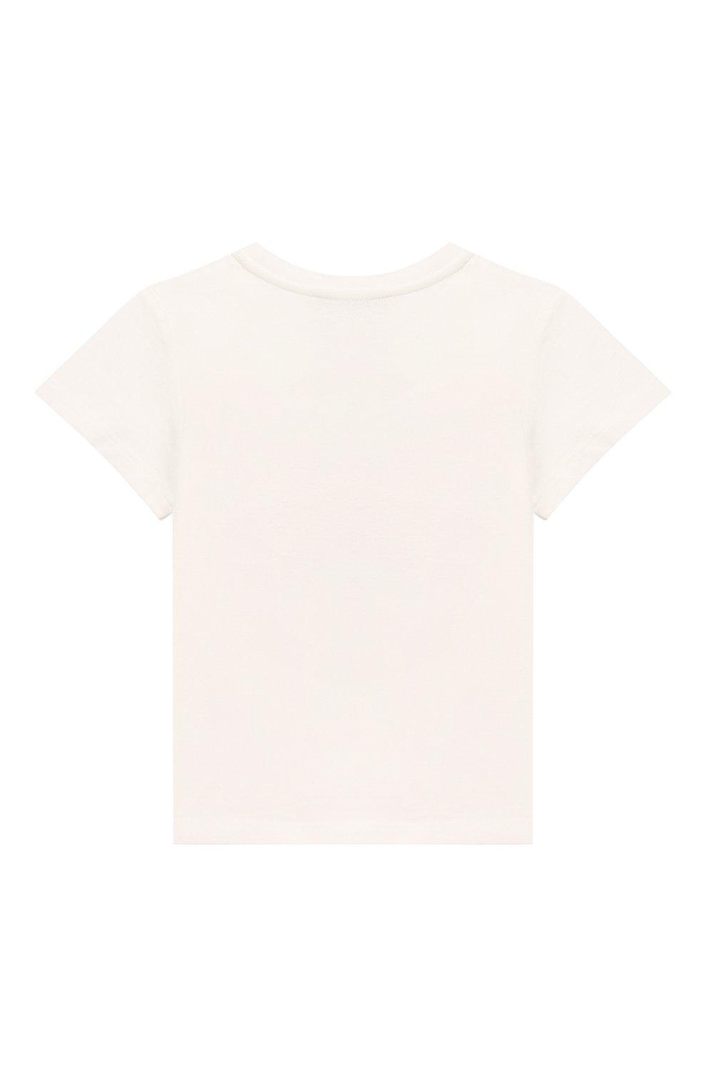 Детский хлопковая футболка GUCCI белого цвета, арт. 497845/X3L91   Фото 2
