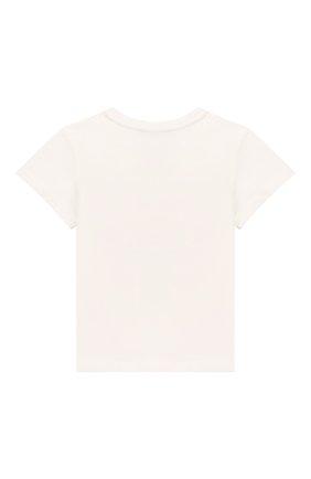 Детский хлопковая футболка GUCCI белого цвета, арт. 497845/X3L91 | Фото 2