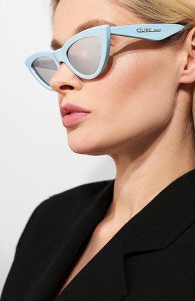 Женские солнцезащитные очки CELINE EYEWEAR светло-голубого цвета, арт. CL40019I 84C | Фото 2