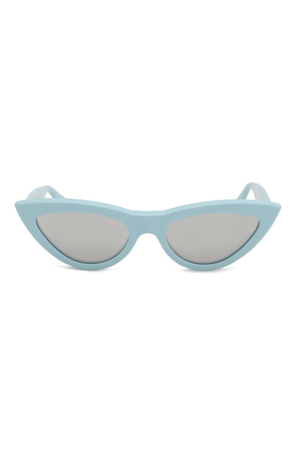 Женские солнцезащитные очки CELINE EYEWEAR светло-голубого цвета, арт. CL40019I 84C | Фото 3