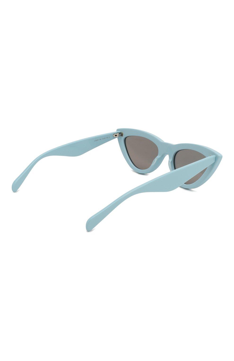 Женские солнцезащитные очки CELINE EYEWEAR светло-голубого цвета, арт. CL40019I 84C | Фото 4