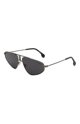 Мужские солнцезащитные очки CARRERA черного цвета, арт. CARRERA 1021 V81 | Фото 1