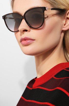 Женские солнцезащитные очки FENDI коричневого цвета, арт. 0345 086   Фото 2