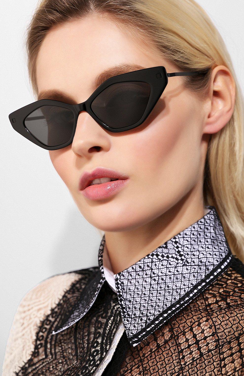 Женские солнцезащитные очки MYKITA черного цвета, арт. GAPI/915 | Фото 2