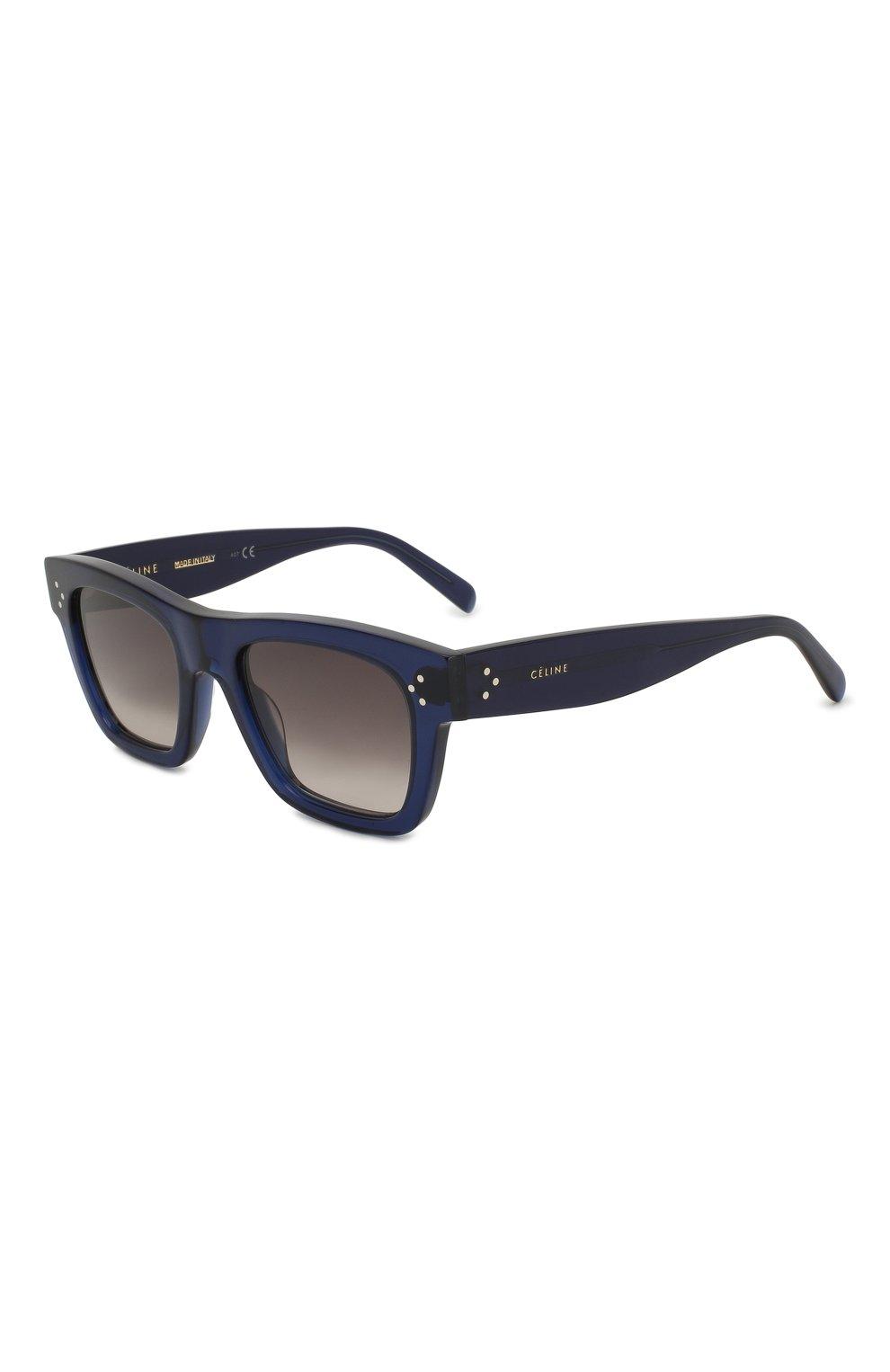 Женские солнцезащитные очки CELINE EYEWEAR синего цвета, арт. CL40009I 90F | Фото 1
