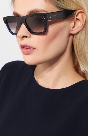 Женские солнцезащитные очки CELINE EYEWEAR синего цвета, арт. CL40009I 90F | Фото 2